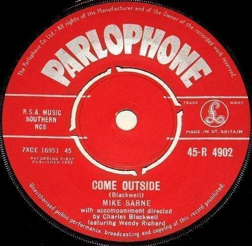 """Mike Sarne - Come Outside / Fountain Of Love - Uk 7"""""""