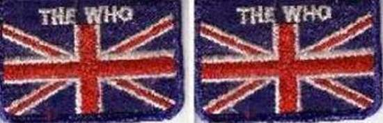 Who - British Flag Patch Set Of 2 - Patch