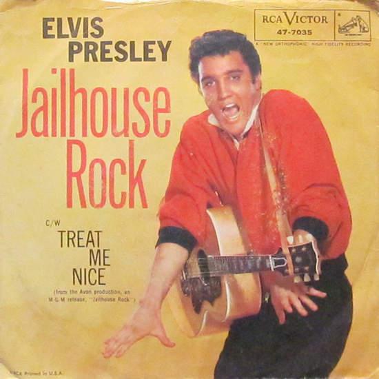 Elvis Presley - Jailhouse Rock / Treat Me Nice - 45