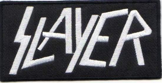 Slayer - Slayer Rectangular Black & White - Patch