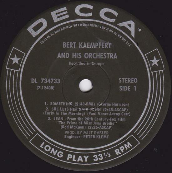 """Bert Kaempfert & His Orchestra - The Kaempfert Touch - 7"""""""