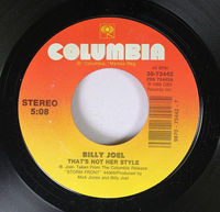 Billy Joel - That's Not Her Style - 45