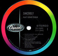 """Nat King Cole - Sincerely Ep - 7"""""""