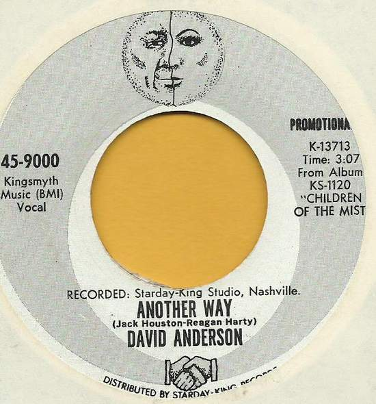 David Anderson - Another Way / Songbird - 7""