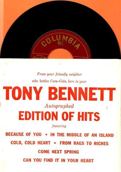 """Tony Bennett - Edition Of Hits E.p. - 7"""""""