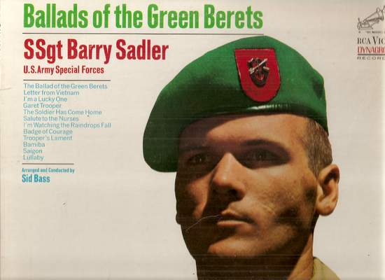 Ssgt. Barry Sadler - U.s. Army Special Forces* – Ballads Of The Green Berets - LP