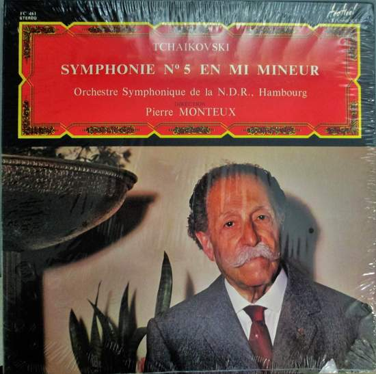 Pierre Monteux & The Hambourg Symphony Orchest - Tchaikovski: Symphony N0. 5 In E Minor Op. 64 - LP