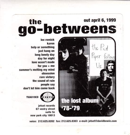 Go-betweens - Lost Album 78-79 (promo) - CD