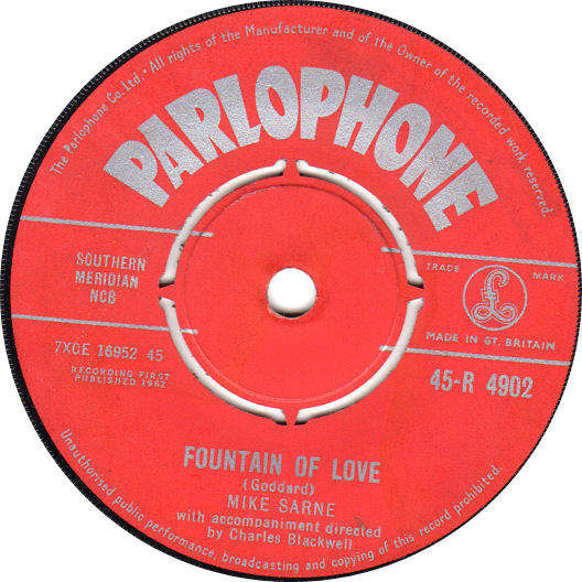 MIKE SARNE - Come Outside / Fountain Of Love