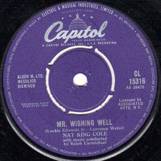 """NAT KING COLE - MR. WISHING WELL / THAT SUNDAY, THAT SUMMER - 7"""""""