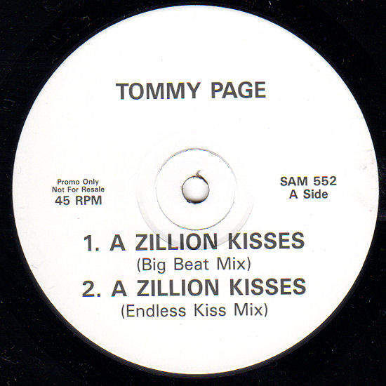 """TOMMY PAGE - A ZILLION KISSES - PROMO - 12"""""""