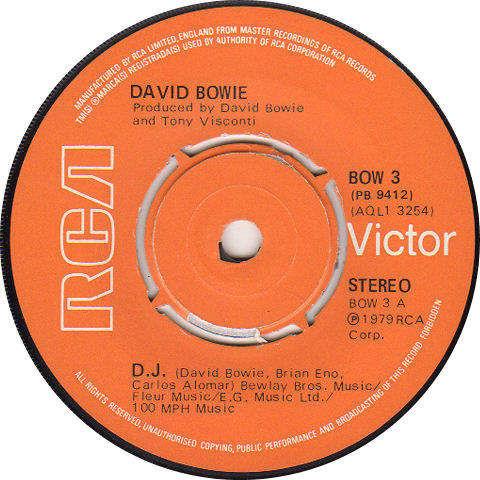 """DAVID BOWIE - D.J. / REPETITION - 7"""""""
