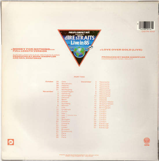 DIRE STRAITS - Money For Nothing - Full Length Version / Love Over Gold - Live