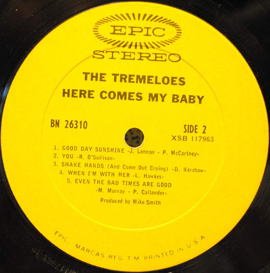 Tremeloes - Here Comes My Baby - LP