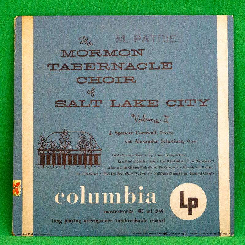"Mormon Tabernacle Choir - The Mormon Tabernacle Choir Of Salt Lake City, Volume Ii - 10""+CDR"
