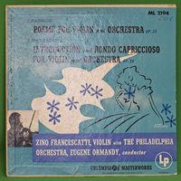 "Zino Francescatti (violin)/philadelphia Orchestra - Chausson: Poème For Violin And Orchestra, Op. 25 - 10""+CDR"