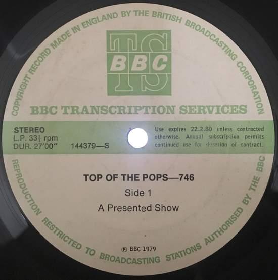 Rare! Bbc Transcript Lp Queen Lizzy Sex Pistols - Top Of The Pops 746 - LP