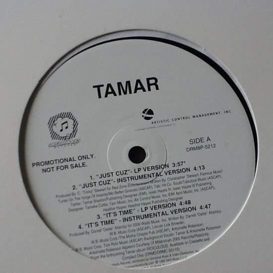 "Tamar - Just Cuz - 12""+CDR"
