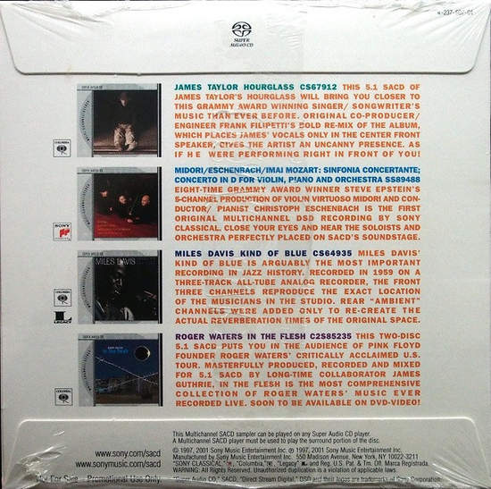 2001 Sacd Promo Advance Sampler