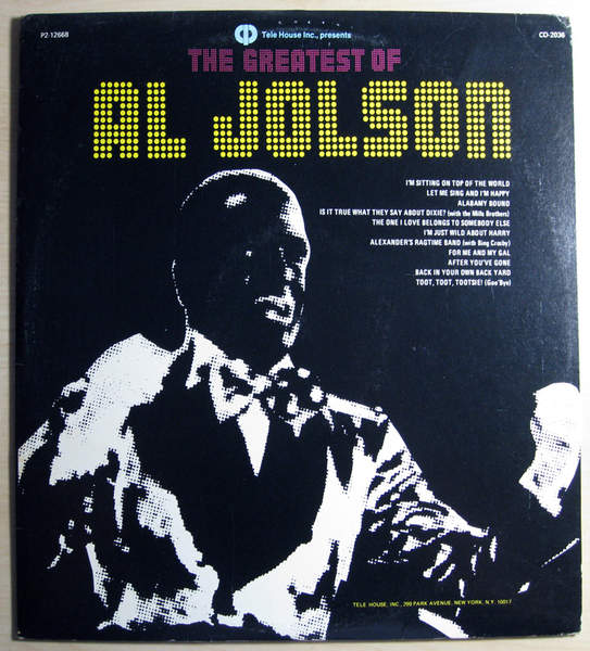 Al Jolson - The Greatest Of Al Jolson - 2LP