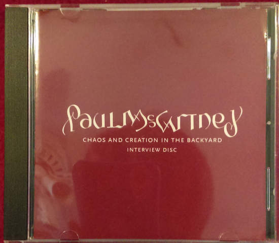 Paul Mccartney - Chaos And Creation In The Backyard Interview Disc - CD