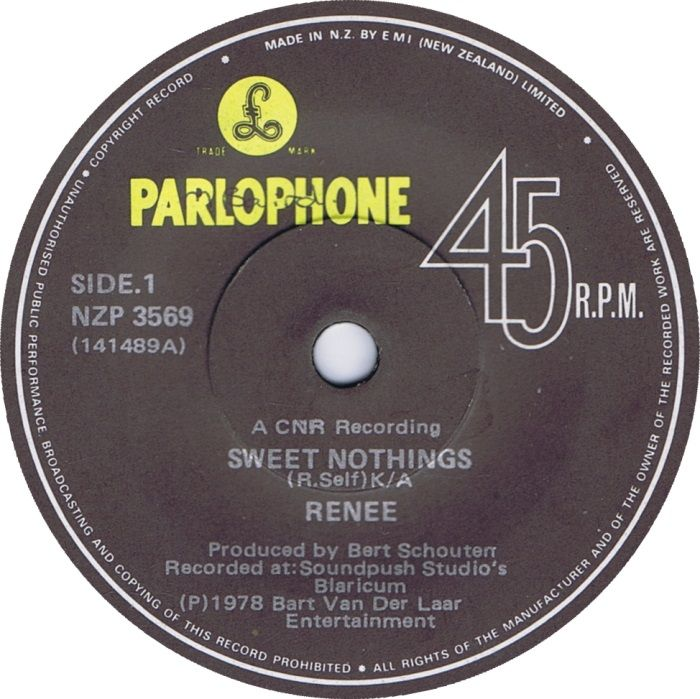 Renee - Sweet Nothings/alligator Boogie - 7""
