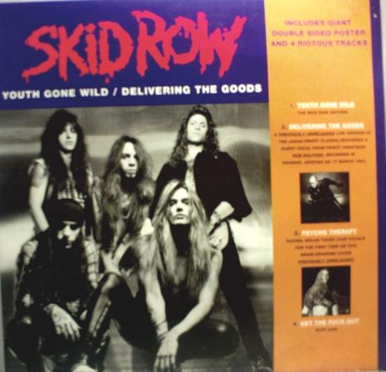 """Skid Row - Youth Gone Wild - 12"""" PS"""