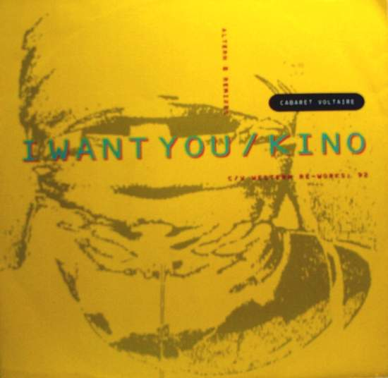 """Cabaret Voltaire - I Want You - 12""""PS"""