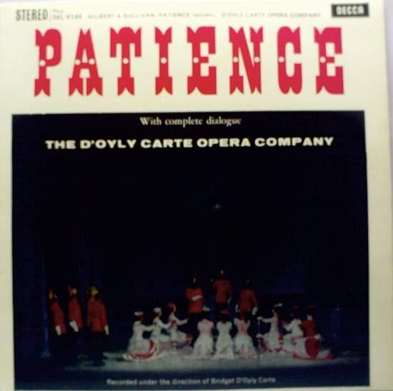 Gilbert & Sullivan/the D'oyly Carte Opera Comp - Patience - 2LP