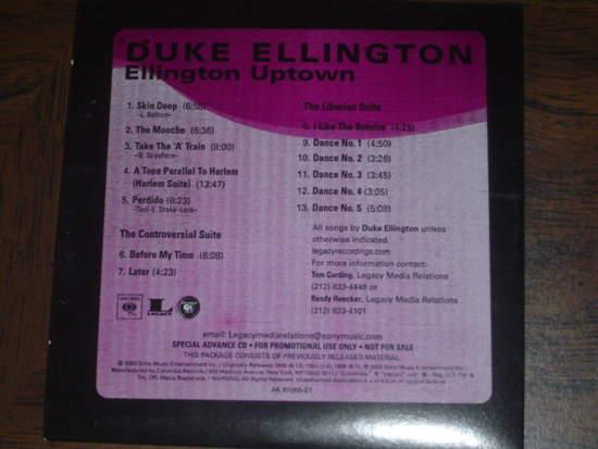 Duke Ellington - Ellington Uptown - Promotional Copy - CD