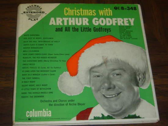 "Arthur Godfrey & All The Little Godfreys - Christmas With Arthur Godfrey - Triple Ep Set - 7"""
