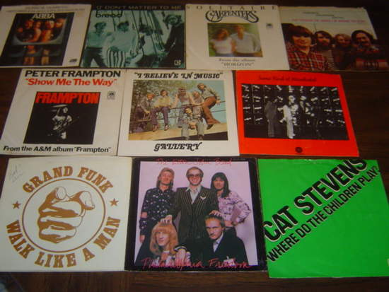 """Various Artists - 10 Great 1970's Pop & Rock Picture Sleeves - Lot 6 - 7"""""""