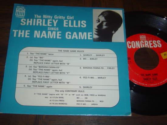 "Shirley Ellis - The Name Game / Whisper To Me Wind - W-pic Sleeve - 7"""