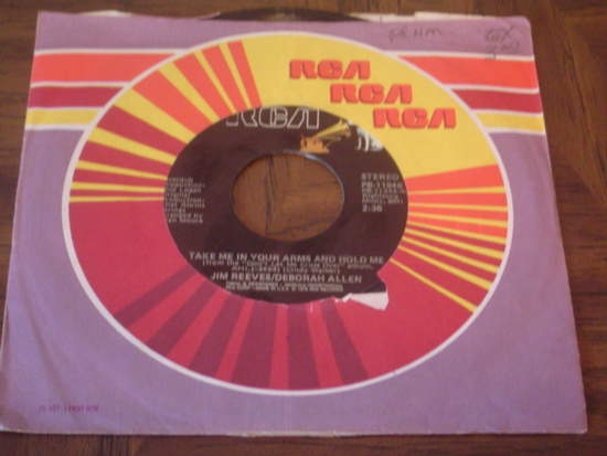 """Jim Reeves - Take Me In Your Arms And Hold Me / Missing Angel - 7"""""""