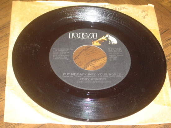"""Eddy Arnold - Put Me Back Into Your World / Goodnight, Irene - 7"""""""
