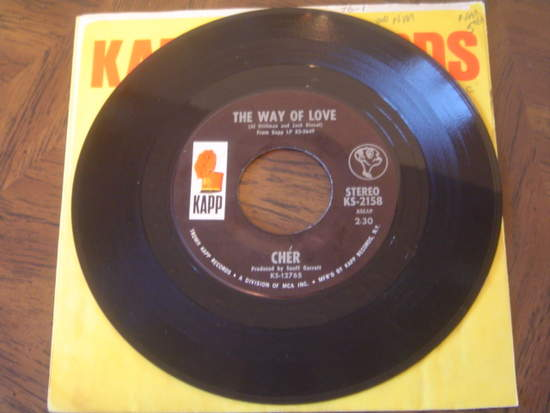 Cher - The Way Of Love / Don't Put It On Me - 7""