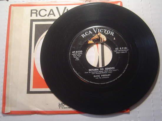 "Elvis Presley - Return To Sender / Where Do You Come From - 7"""