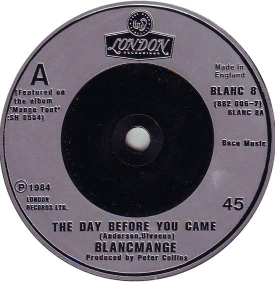 Blancmange - The Day Before You Came - 7""