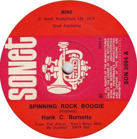 """Hank C. Burnette - Spinning Rock Boogie - 7"""""""