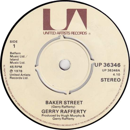 "Gerry Rafferty - Baker Street - 7"""