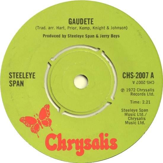 """Steeleye Span - Gaudete - 7"""""""