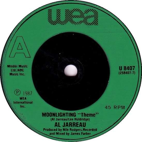 "Al Jarreau - Moonlighting (theme) - 7"""