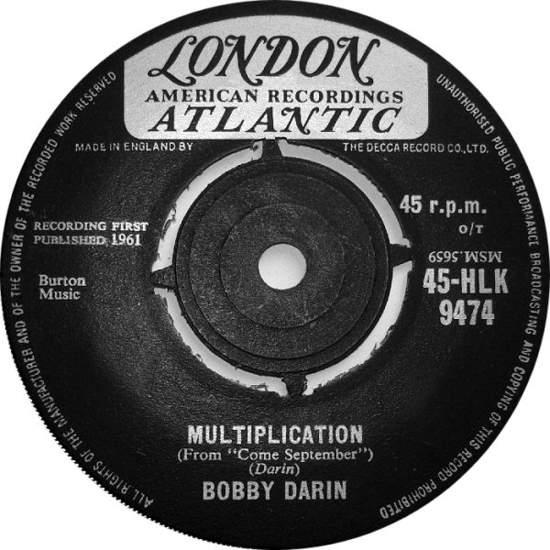 """Bobby Darin - Multiplication - 7"""""""