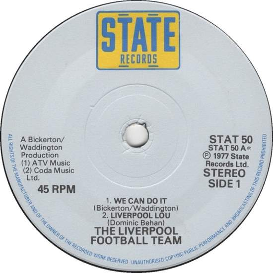 Liverpool Football Team - We Can Do It - 7""