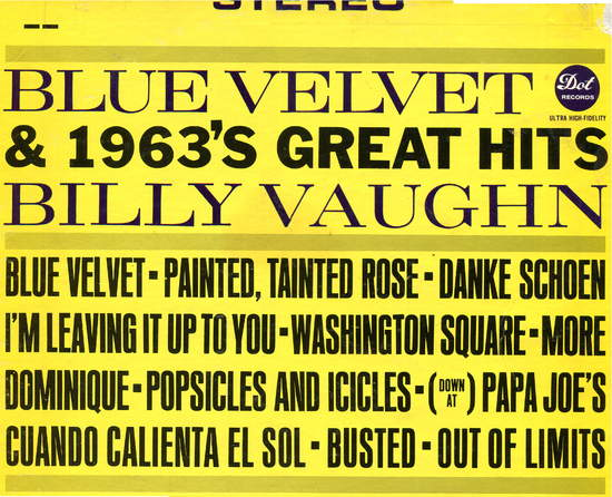 Billy Vaughn - Blue Velvet & 1963's Great Hits - LP