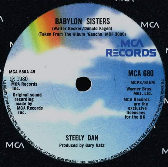 Steely Dan - Babylon Sisters / Time Out Of Mind - Uk Single - 45