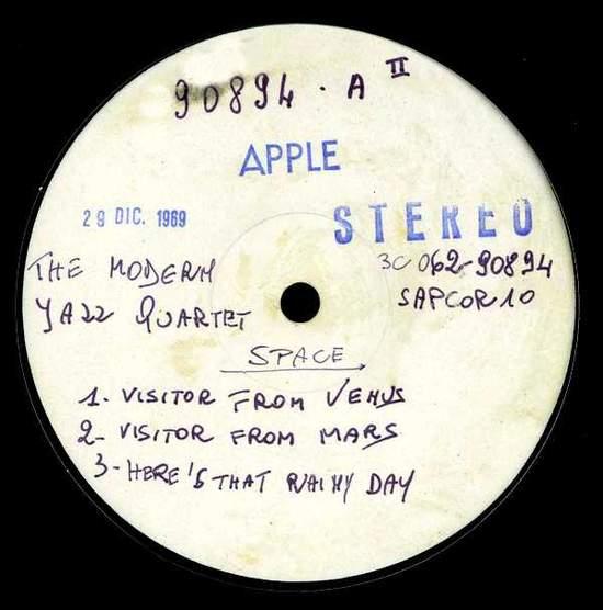 Modern Jazz Quartet - Space - Italian Test Pressing Lp - LP