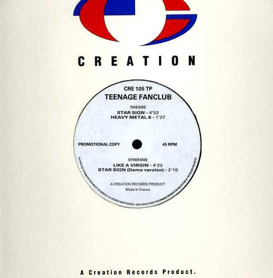 "Teenage Fanclub ‎ - Star Sign - Uk Promo 12"" Ep - 12"""