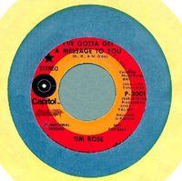 Tim Rose - I've Gotta Get A Message To You - Usa Promo Single - 45
