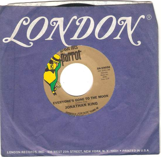 King,jonathan - Everyone's Gone To The Moon/hooked On A Feeling - 45